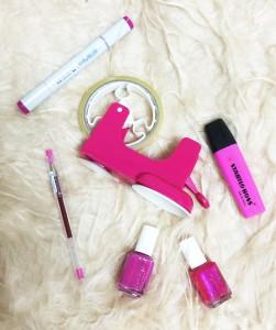 ピンク小物
